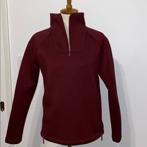 North Face funnel neck 3/4 zip pull over jacket